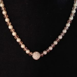Jewelry - Elegant Classy Soft Pink Faux Pearl Necklace